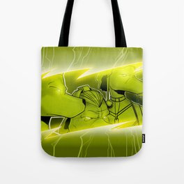 Lightning Dogs Never Turn Tail by Tony Baldini Tote Bag