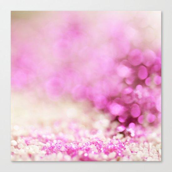 Pink and white shiny glitter effect print - Sparkle Valentine Backdrop Canvas Print