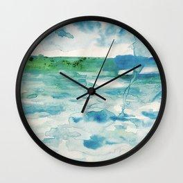 Miami Beach Watercolor #2 Wall Clock