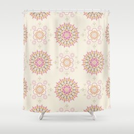 Folky Medallions Shower Curtain