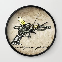 Raygun this is not a pipe Wall Clock