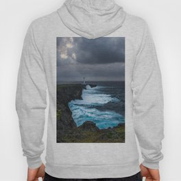Storm Brewing Over the Cape Zanpa Lighthouse Hoody