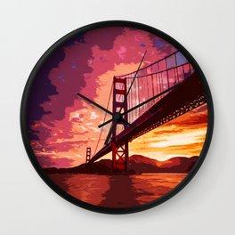 Golden Gate Bridge - San Francisco Wall Clock