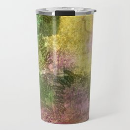 Snail trails on colorful bark Travel Mug