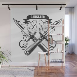 """""""GANGSTER"""" Fashion Modern Design Print! Rap, Hip Hop style and more Wall Mural"""