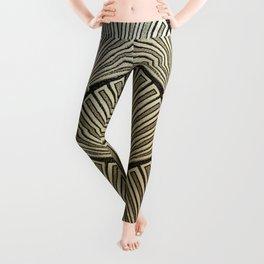 Golden Art Deco pattern Leggings