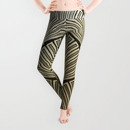 Golden Art Deco pattern Leggings
