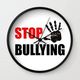 STOP BULLYING Wall Clock