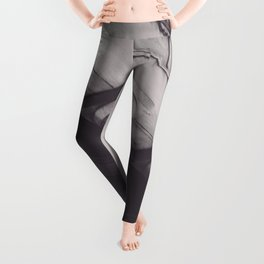 Black & white New York, Federal Hall, greek temple, Wall street, neoclassical architecture, fine art Leggings