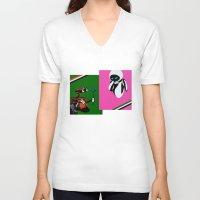 wall e V-neck T-shirts featuring WALL-E by iankingart