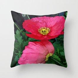 Poppies Three Throw Pillow