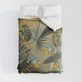 Bird of Paradise Jungle Leaves Dream #3 #tropical #decor #art #society6 Comforters