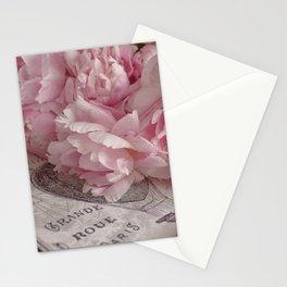 Paris Peonies Stationery Cards