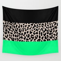 the national Wall Tapestries featuring Leopard National Flag XIII by M Studio