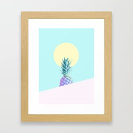 Tropical Pineapple Sunkissed #decor #popart #minimalist Framed Art Print