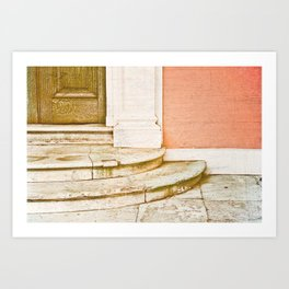 Steps to the mansion Art Print