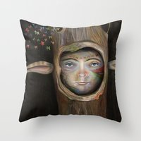 tree of life Throw Pillows featuring Tree Life by Fizzyjinks