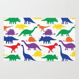 Dinosaurs - White Rug