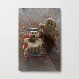 Attack of the Gingerbread man II Metal Print