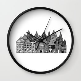 Medieval Village I Wall Clock