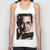 james bond Tank Tops featuring Sean Connery as James Bond by Caroline Ward