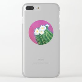 Cactus Blossoms Clear iPhone Case