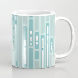 Ocean Reflection – Blue / Teal Midcentury Abstract Coffee Mug