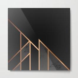 Black & Gold 035 Metal Print