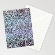 Detailed square, grey'n wedgwood Stationery Cards
