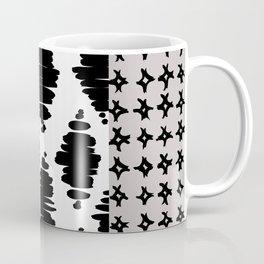 Vertical Stripe Patchwork Pattern Coffee Mug