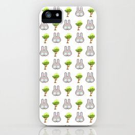 Iku Bunnies & Trees Pixel Art iPhone Case