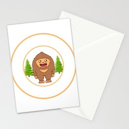 Outdoor Mountain Hiking Bigfoot Sasquatch Official Bigfoot Research Team Apparels T-shirt Design Stationery Cards