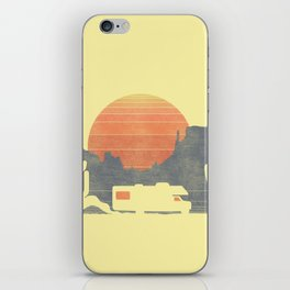 Trail of the dusty road iPhone Skin