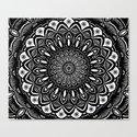 Bold Mandala Black and White Simple Minimal Minimalistic by aej_design