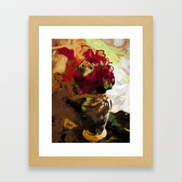 Rose Cathartica Graffiti Vase Flower Maelstrom Framed Art Print