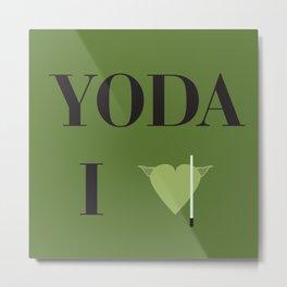 I heart Yoda Metal Print
