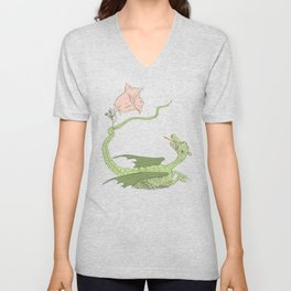 Defeating the Dragon Unisex V-Neck