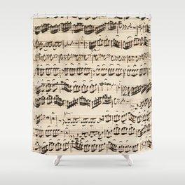 Johann Sebastian Bach (1685 – 1750) original music sheet Shower Curtain