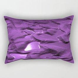Sun Puddles Purple Rectangular Pillow