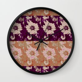 Flower Design @  DieFarbenfluesterin Wall Clock