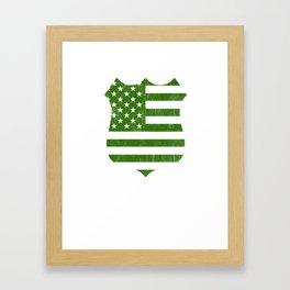 Thin Blue Line Irish American Flag Police Shield print Framed Art Print