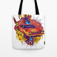 muscle Tote Bags featuring Muscle by Tshirt-Factory