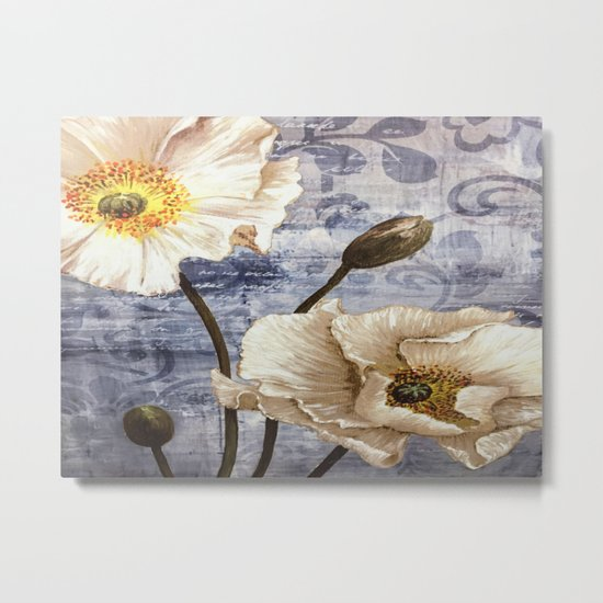 Enchanting White Flowers Metal Print