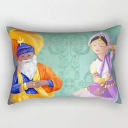 3 indians Rectangular Pillow