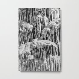 No Snow! But Structures In Dripstone Cave. Metal Print