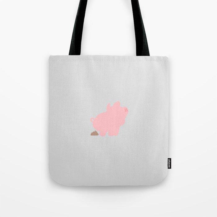 Rosa the Pig Poops (Grey) Tote Bag