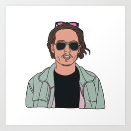 90s celeb sticker Art Print