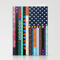 boho Stationery Cards featuring Boho America by Schatzi Brown