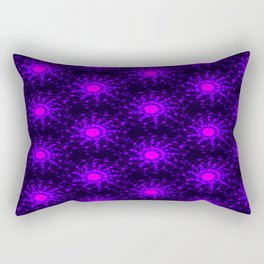 Abstract glowing pink-purple pattern on dark background. Rectangular Pillow