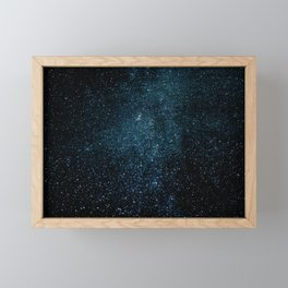 Blue Galaxy Framed Mini Art Print